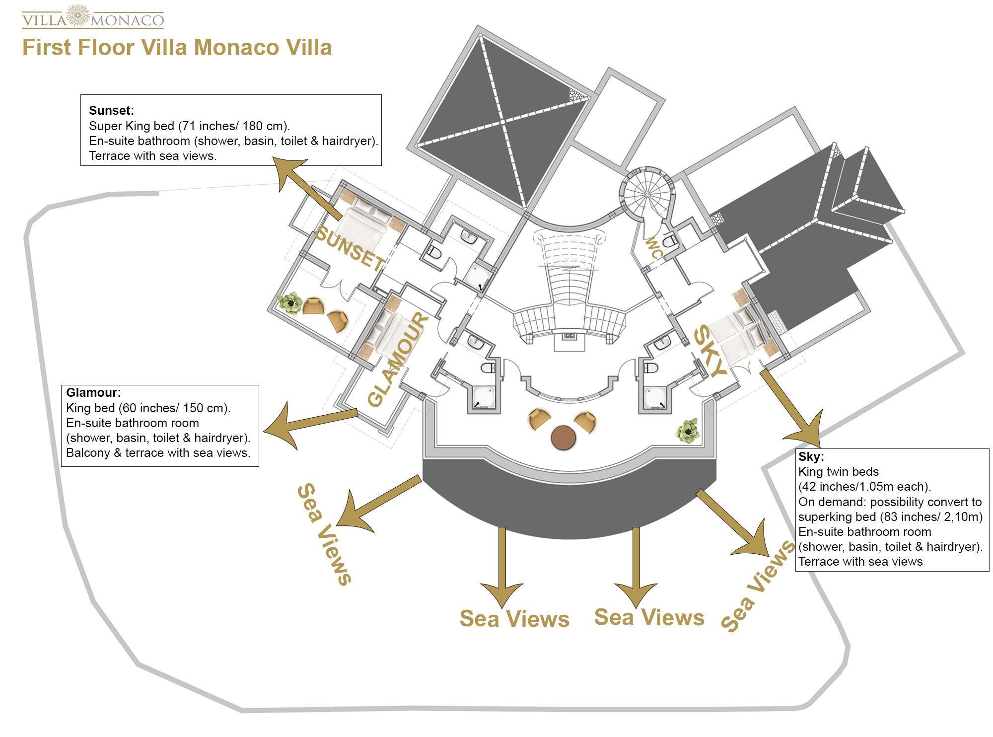 Villa Monaco Adeje Tenerife Luxury Holiday Rentals Sea
